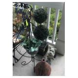 TOPIARY AND METAL IVY DECOR