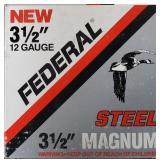 "FEDERAL 12GA 3 1/2"" MAGNUM STEEL 25 RDS"