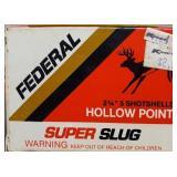 """FEDERAL 20GA SUPER SLUG HP 2 3/4"""" 5 RDS"""