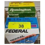 FEDERAL & REMINGTON 16GA 7 1/2 SHOT 50 RDS
