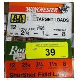WINCHESTER & REMINGTON 12GA 8 SHOT 50 RDS