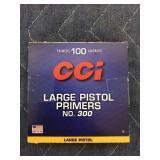 100 CCI LARGE PISTOL PRIMERS NO. 300