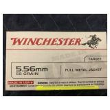 WINCHESTER 5.56, 55GR, FMJ 20 ROUNDS
