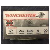 """WINCHESTER 12GA,2 3/4"""" 9PEL 00 BUCK (5) ROUNDS"""