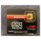 WINCHESTER 9MM LUGER 147 GR SXT BLACK TALON 20RDS