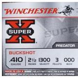 """WINCHESTER .410 000 BUCK 2 1/2"""" 3 PELLETS"""