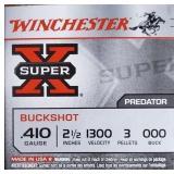 """WINCHESTER .410 000 BUCK 2 1/2"""" 3 PELLETS 5 RDS"""