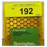REMINGTON 22 HIGH VELOCITY 100 RDS