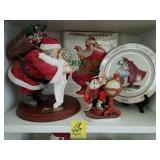 4 NORMAN ROCKWELL CHRISTMAS SCENE FIGURINES