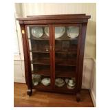 EMPIRE STYLE OAK CHINA CABINET WITH 5 SHELVES