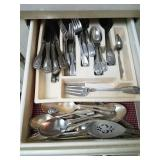 9 DRAWERS IN KITCHEN: DISH TOWELS, UTENSILS,