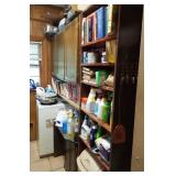 REST OF PANTRY COOKBOOKS, CLEANING SUPPLIES,