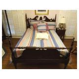 SMALL POSTER MAHOGANY DOUBLE BED,