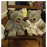 2 APPLAUSE BEARS AND BENCH