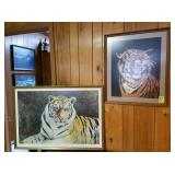 2 TIGER PICTURES; 1 BY CHERRIE NUTE