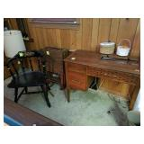 SINGER SEWING MACHINE, TV TRAY TABLES,