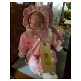 PORCELAIN DOLL WITH PINK DRESS