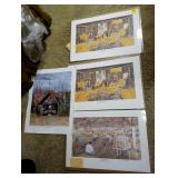 GROUP OF TOBACCO PRINTS SIGNED AND NUMBERED