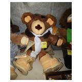 AVIATOR FURSKIN TEDDY BEAR