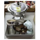 PEWTER CHAFFINg DISH, ASSORTED SILVERPLATE