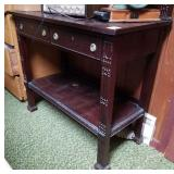MAHOGANY SERVER WITH 2 DRAWERS