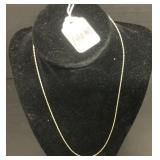 """18.5"""" YG 1MM HOLLOW ROPE CHAIN"""