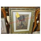 3) Framed Wine Motif Prints
