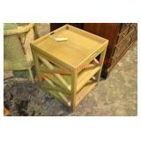 Tray Table and Woven Fiber Lounge Chair