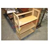 Folding Hardwood Bookshelf
