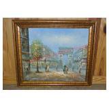 Contemporary Paris Street Scene Oil Painting