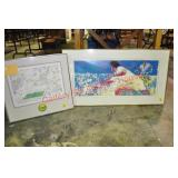 LeRoy Neiman Framed Tennis Lithograph and Related