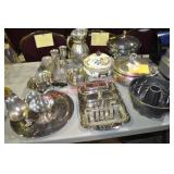 Pewter, Silverplate, and Enamelware Serving Pieces