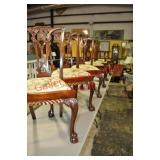 6 Fancy Chippendale Dining Chairs x$