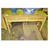 Henry Link Wicker Console Table