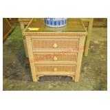 Henry Link Wicker 3 Drawer Table