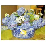 Blue Transfer Porcelain Foot Bath