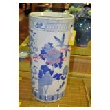 Blue and White Chinese Umbrella Stand