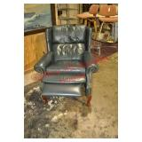 Leather Wingback Recliner
