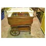 Walnut Tea Cart and Painted Bed Tray