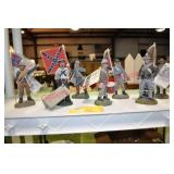 Mark B. Saunders Confederate Soldier Figures x$