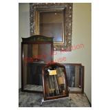 4 Antique Accent Mirrors