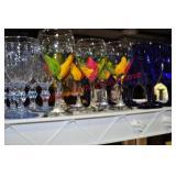 Cobalt and Painted Glassware Plus