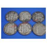6) French Silver Ten Francs x $