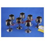 7) Sterling Cordial Cups