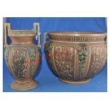 Roseville Florentine Vase & Jardiniere