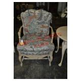 French Country Walnut Side Chair