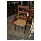 Early 19th Century Ladderback Writing Chair