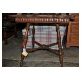 Victorian Oak Figural Dolphin Foot Parlor Table