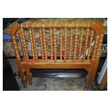 Pair of Twin Oak Spindle Beds