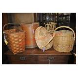 Baskets and Pepper Barrel